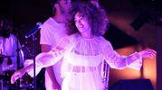 La performance di Solange Knowles (Afp)