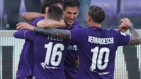La gioia della Fiorentina (Fotocronache Germogli)