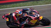 Nicky Hayden in gara nella Superbike a Imola (Foto Olycom)