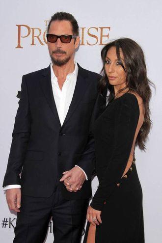 Chris Cornell con la moglie Vicky Karayiannis (Olycom)