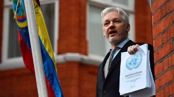 Julian Assange, fondatore di WikiLeaks (Afp)