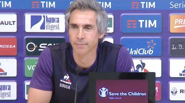 Paulo Sousa prima di Napoli-Fiorentina