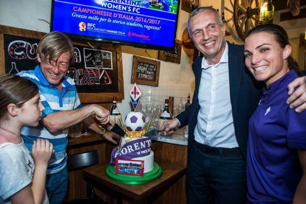 La Fiorentina Women's festeggia lo scudetto insieme a Fabrizio signorelli di Best and Fast Change