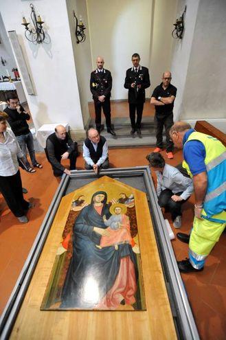 L'opera di Giotto ricollocata nella pieve di Vicchio (foto Germogli)