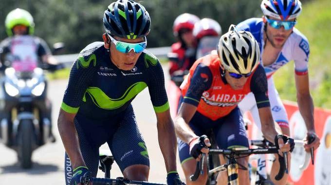 Nairo Quintana, Vincenzo Nibali e Thibaut Pinot (LaPresse)