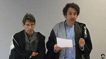 A sinistra il giudice Fabrizio Garofalo e il cancelliere; qui sopra il pm Alessandro Casseri che ha sostenuto l'accusa nei confronti dell'imputata, poi condannata