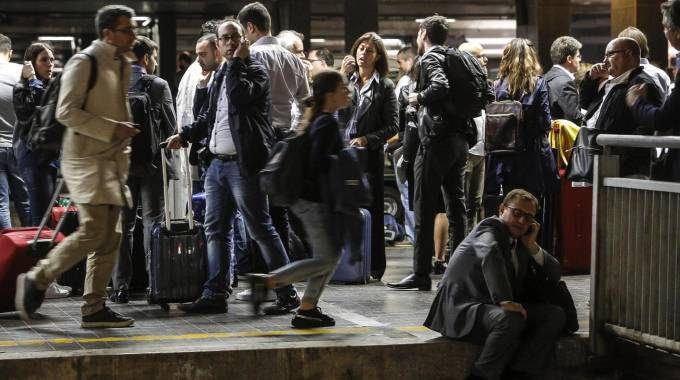 Disagi alla stazione Termini  (Ansa)