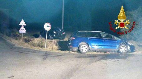 Le auto coinvolte nell'incidente