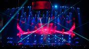Enrique Iglesias sul palco dell'Unipol Arena (foto Schicchi)