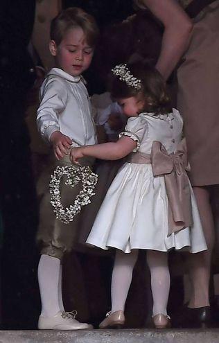 Il principino George e la principessina Charlotte (Afp)