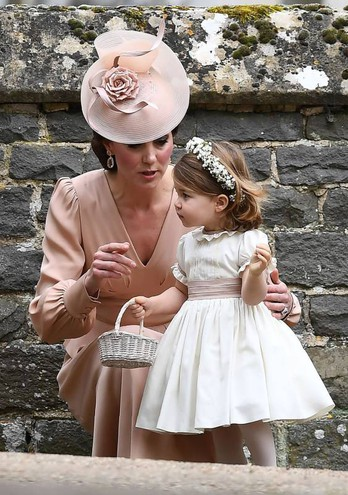 Kate con Charlotte (Afp)