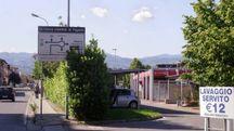 L'ingresso dell'autolavaggio Idrobox sulla Fiorentina