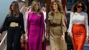 Riad, tutti i look di Melania Trump