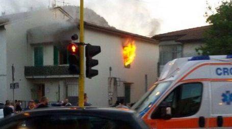 A fuoco un appartamento a La Querce