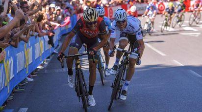 Nibali e Jungels durante la 15esima tappa del Giro (Afp)