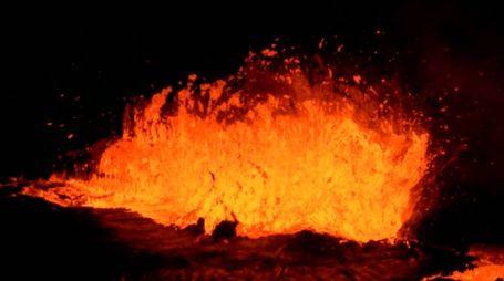 Kilauea, fiume di lava alle Hawaii (Olycom)