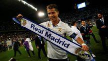Esultanza Cristiano Ronaldo per lo Scudetto