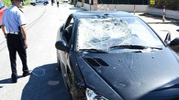 L'automobile dove si è scontrato Nicky Hayden (foto Migliorini)
