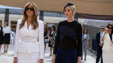 Melania e Ivanka Trump a Gerusalemme (Afp)