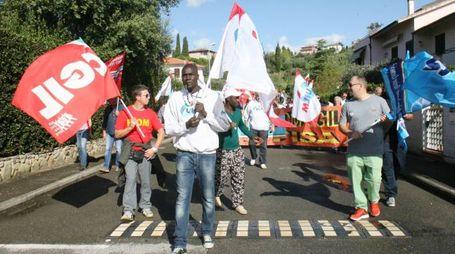 Una protesta alla Ristori