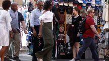 Barack Obama e la moglie Michelle in Toscana (Dipietro)