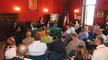 Incontro in Municipio con l'assessore regionale Donini (Foto Scardovi)