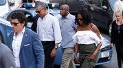 Barack Obama con la moglie Michelle a Siena