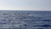 Migranti, strage di bambini. L'immagine dal Twitter di Chris Catrambone, Ong Moas (Ansa)