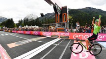 Giro d'Italia 2017, Pierre Rolland vince la tappa 17 (LaPresse)