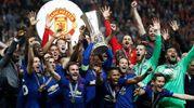 Europa League, la festa del Manchester United (Afp)