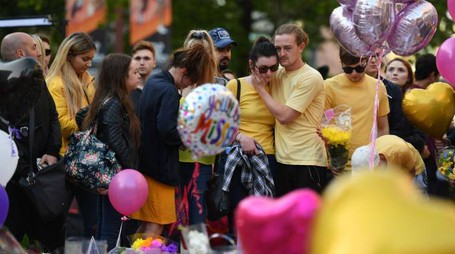 Manchester, il tributo alle vittime (Afp)