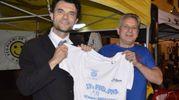 Fiorenzo Gei insieme al sindaco Biffoni nel settembre del 2014