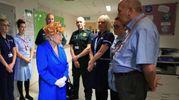 Elisabetta II in ospedale dalle piccole vittime (Ansa)