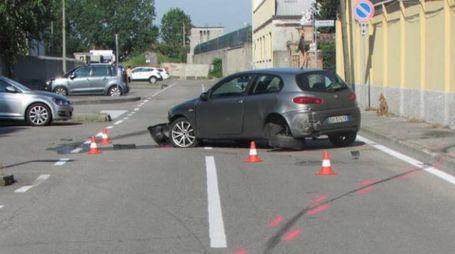 L'auto dopo lo scontro