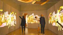 Il rendering di una installazione nelle sale di Palazzo Belloni
