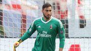 Gianluigi Donnarumma impegnato col Milan a Cagliari (Newpress)