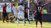 L'esultanza di Pisacane dopo il gol del 2-1 a Cagliari-Milan (LaPresse)
