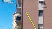 I carabinieri hanno atteso che il ladro arrivasse a terra scalando i balconi per bloccarlo