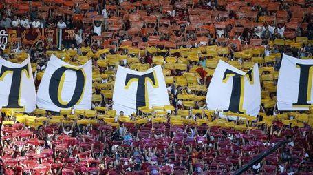 Roma, l'ultima partita di Totti (Ansa)