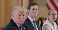 Donald Trump e il genero Jared Kushner (Afp)