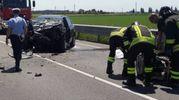 Il luogo dell'incidente in tangenziale a Ferrara (Foto Businesspress)