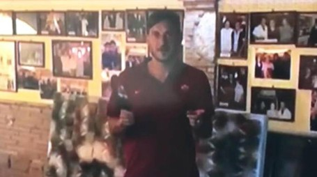 Totti nel video pubblicato dal sito www.forzaroma.it