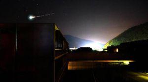 Meteorite del 30 maggio 2017 avvistato nel Nord Italia. Foto rilanciata dall'Ansa