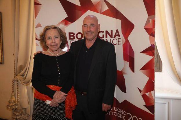 Marisa Monti Riffeser con il figlio Andrea Riffeser Monti (foto Schicchi)