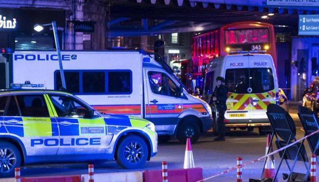 Polizia in azione a Londra (Ansa)