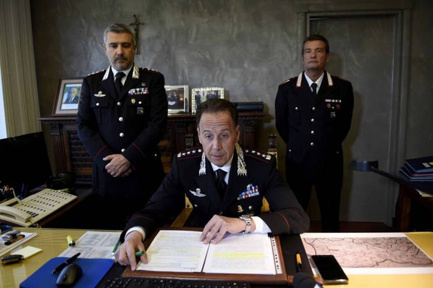 La conferenza stampa dei carabinieri (foto Businesspress)