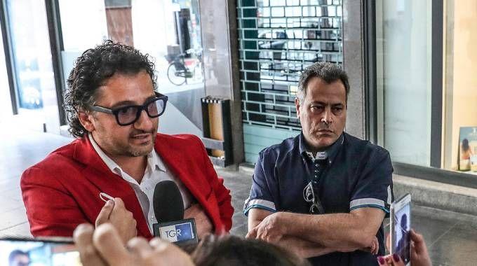 L'avvocato Enzo Carrella (a sinistra) e l'omeopata Massimiliano Mecozzi