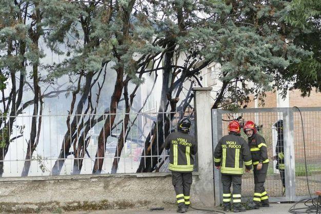 Prato, incendio in via Targetti (Attalmi)