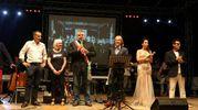 Alla Notte del liscio, il sindaco Vincenzi con l'assessore Corsini, Riccarda Casadei e Moreno Il Biondo (foto Ravaglia)