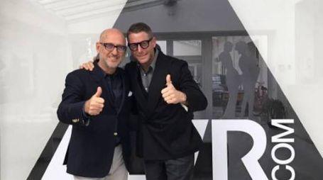 Andrea Panconesi con Lapo Elkann (Instagram)